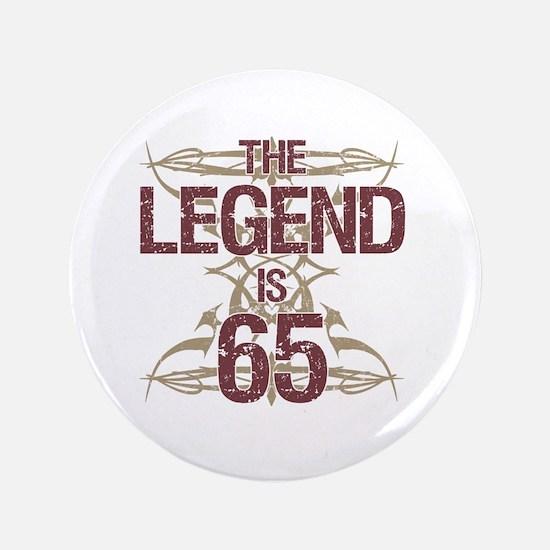 Men's Funny 65th Birthday Button
