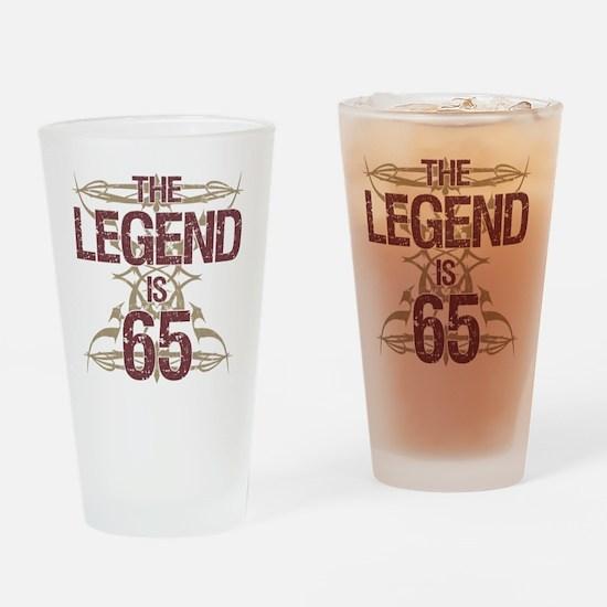 Men's Funny 65th Birthday Drinking Glass