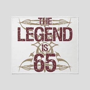 Men's Funny 65th Birthday Throw Blanket