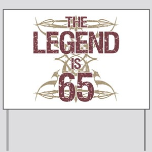 Men's Funny 65th Birthday Yard Sign