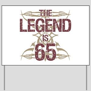 Mens Funny 65th Birthday Yard Sign