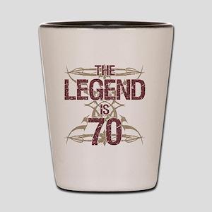 Men's Funny 70th Birthday Shot Glass