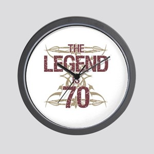 Men's Funny 70th Birthday Wall Clock