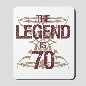 Men's Funny 70th Birthday Mousepad