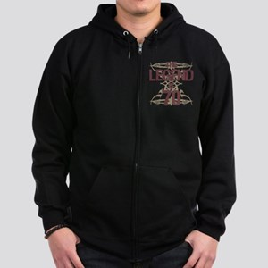 Men's Funny 70th Birthday Zip Hoodie (dark)