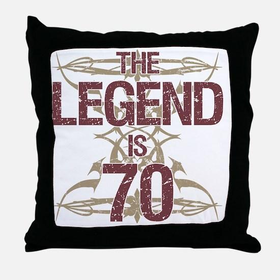 Men's Funny 70th Birthday Throw Pillow