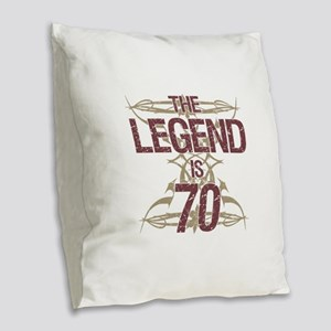 Men's Funny 70th Birthday Burlap Throw Pillow