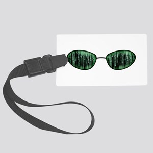 Neo Glasses Large Luggage Tag