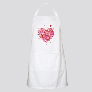 Valentines Day Flowers Apron