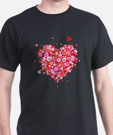 Valentines Day Flowers T-Shirt