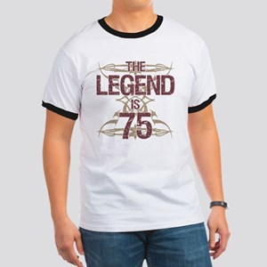 Men's Funny 75th Birthday Ringer T