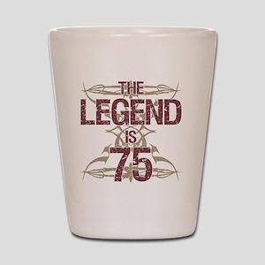 Men's Funny 75th Birthday Shot Glass