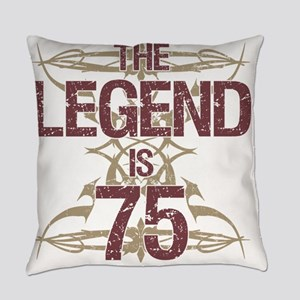 Men's Funny 75th Birthday Everyday Pillow