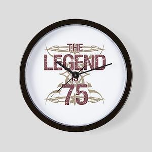 Men's Funny 75th Birthday Wall Clock