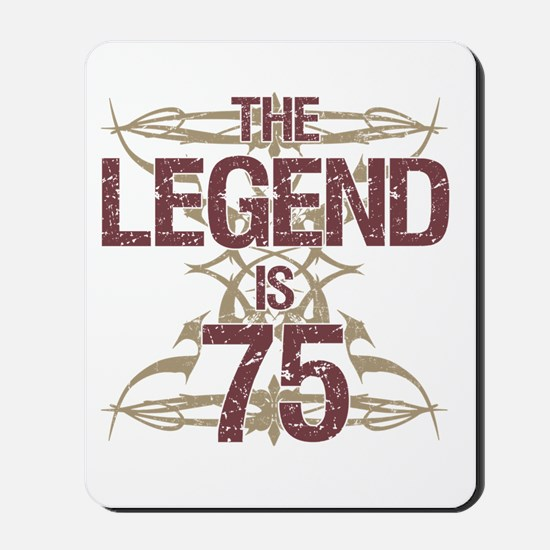 Men's Funny 75th Birthday Mousepad