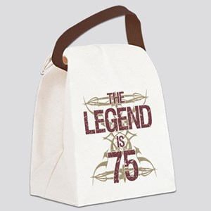 Men's Funny 75th Birthday Canvas Lunch Bag
