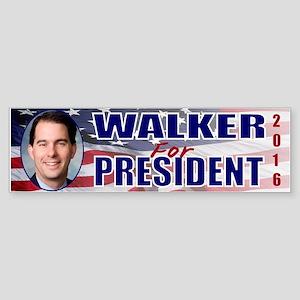 WOW! Scott Walker 4 President Sticker (Bumper)