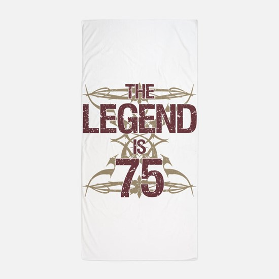 Men's Funny 75th Birthday Beach Towel