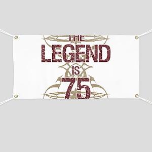 Men's Funny 75th Birthday Banner