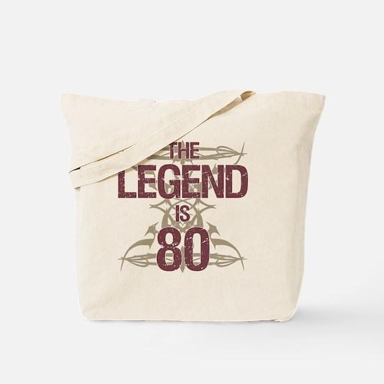 Men's Funny 80th Birthday Tote Bag