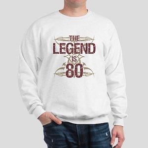 Men's Funny 80th Birthday Sweatshirt