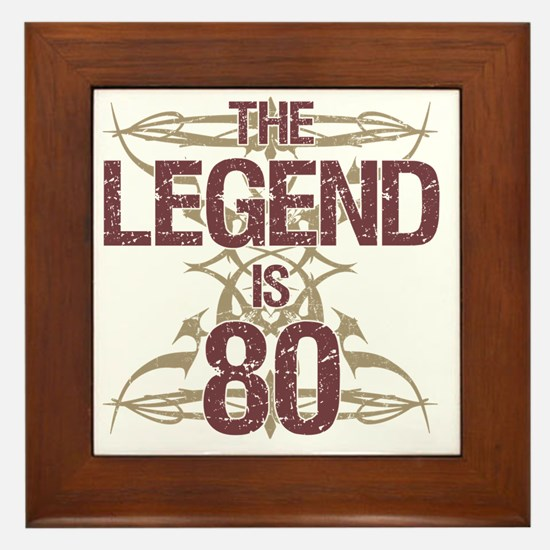 Men's Funny 80th Birthday Framed Tile