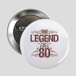 "Men's Funny 80th Birthday 2.25"" Button"