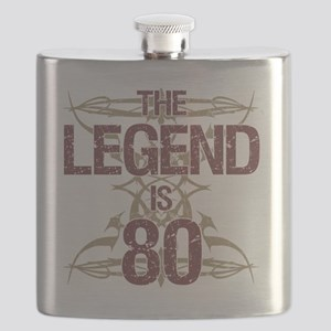Men's Funny 80th Birthday Flask