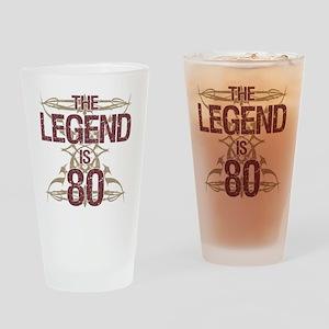 Men's Funny 80th Birthday Drinking Glass