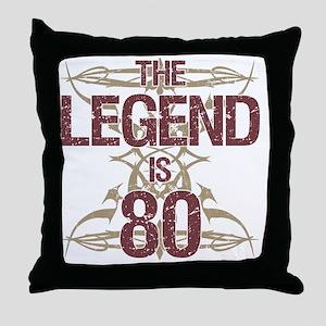 Men's Funny 80th Birthday Throw Pillow