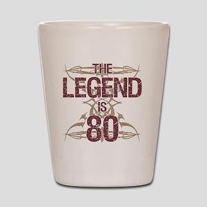 Men's Funny 80th Birthday Shot Glass
