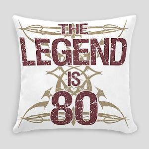 Men's Funny 80th Birthday Everyday Pillow