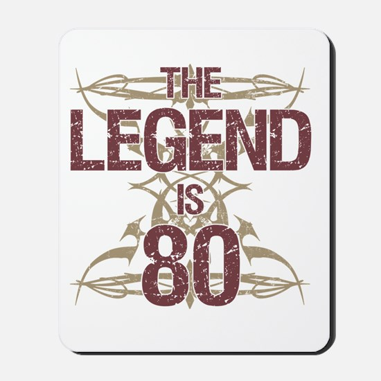 Men's Funny 80th Birthday Mousepad