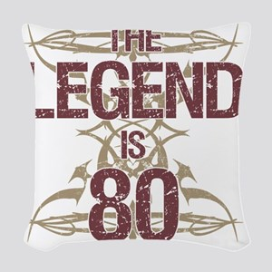 Men's Funny 80th Birthday Woven Throw Pillow
