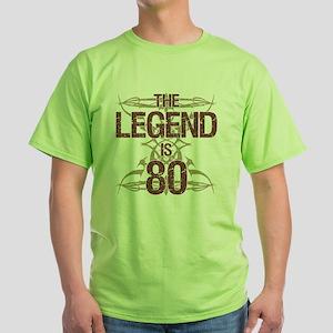 Men's Funny 80th Birthday Green T-Shirt