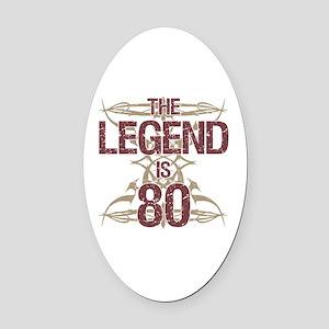 Men's Funny 80th Birthday Oval Car Magnet