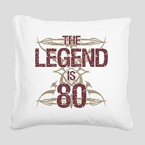 Men's Funny 80th Birthday Square Canvas Pillow