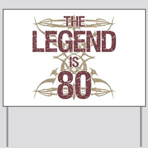 Men's Funny 80th Birthday Yard Sign