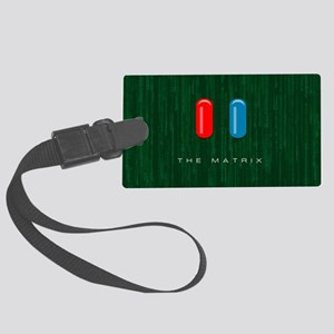 Red Pill, Blue Pill Large Luggage Tag