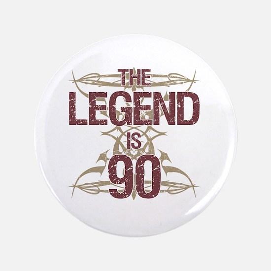 Men's Funny 90th Birthday Button