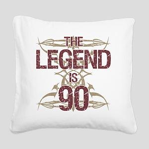 Men's Funny 90th Birthday Square Canvas Pillow