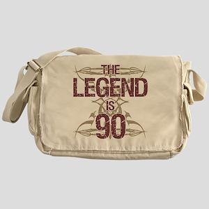 Men's Funny 90th Birthday Messenger Bag
