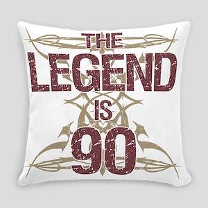 Men's Funny 90th Birthday Everyday Pillow
