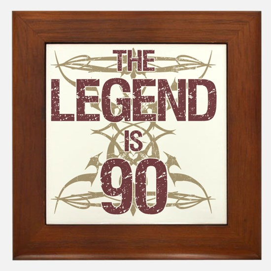 Men's Funny 90th Birthday Framed Tile