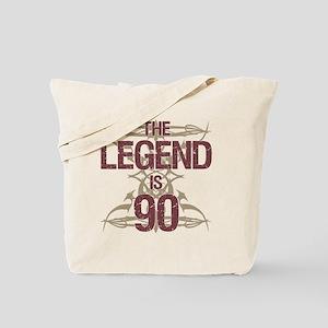 Men's Funny 90th Birthday Tote Bag
