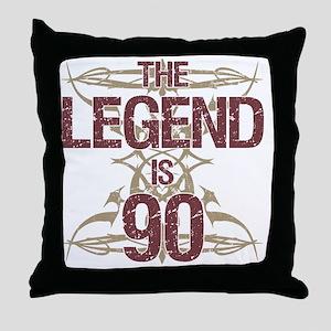 Men's Funny 90th Birthday Throw Pillow