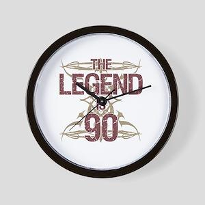 Men's Funny 90th Birthday Wall Clock