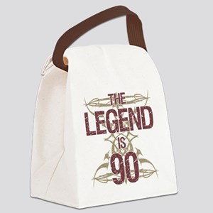 Men's Funny 90th Birthday Canvas Lunch Bag