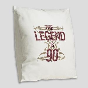 Men's Funny 90th Birthday Burlap Throw Pillow