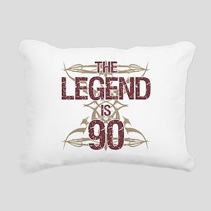 Men's Funny 90th Birthda Rectangular Canvas Pillow